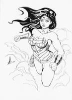 Wonder Woman Inked by Marc-F-Huizinga