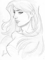 Wonder Woman Sketch by Marc-F-Huizinga