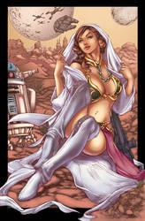 Slave Leia Colors Finished by Marc-F-Huizinga