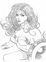 Wonder Woman Pencils by Marc-F-Huizinga