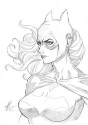 Batgirl Pencils by Marc-F-Huizinga