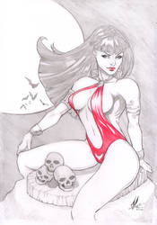 Vampirella Pencil Commission by Marc-F-Huizinga