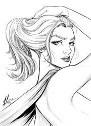 Supergirl Inks by Marc-F-Huizinga