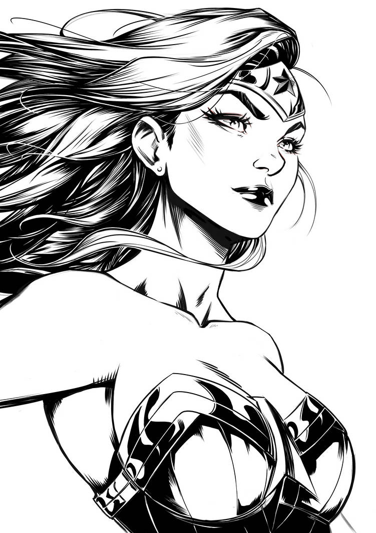 Wonder Woman by Marc-F-Huizinga
