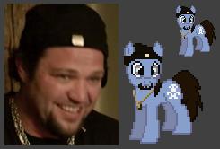 Bam Margera as a pony :O by urimas