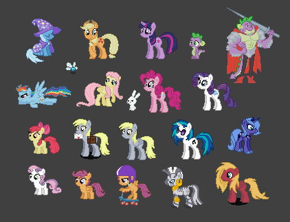 Bunch of MLP Online sprites by urimas