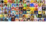 Nintendo vs. Sony character select screen