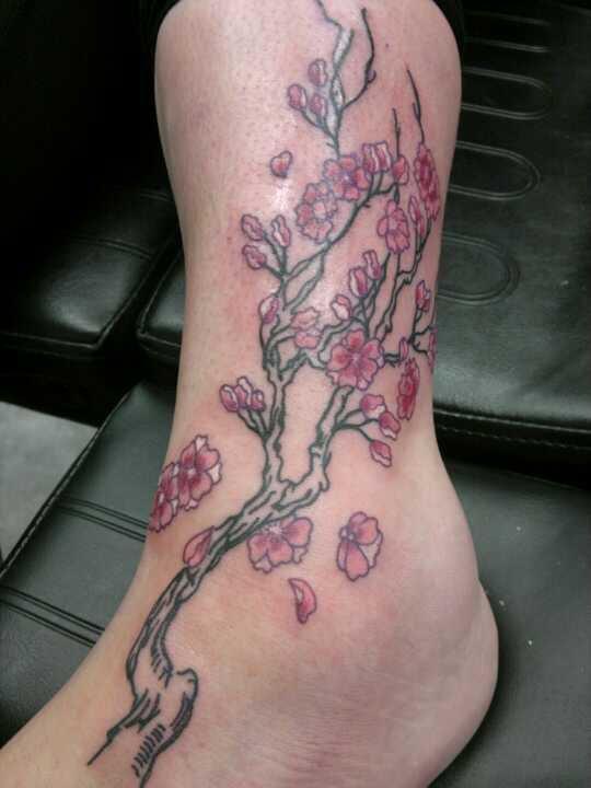 Cherry blossom tattoo by queenoofrandom on deviantart for Chinese cherry blossom tattoo