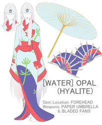 Water Opal (Hyalite) by joker-rin
