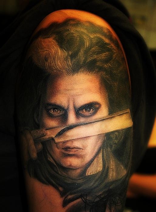 Sweeney todd johnny depp by mgg27 on deviantart for Sweeney todd tattoo