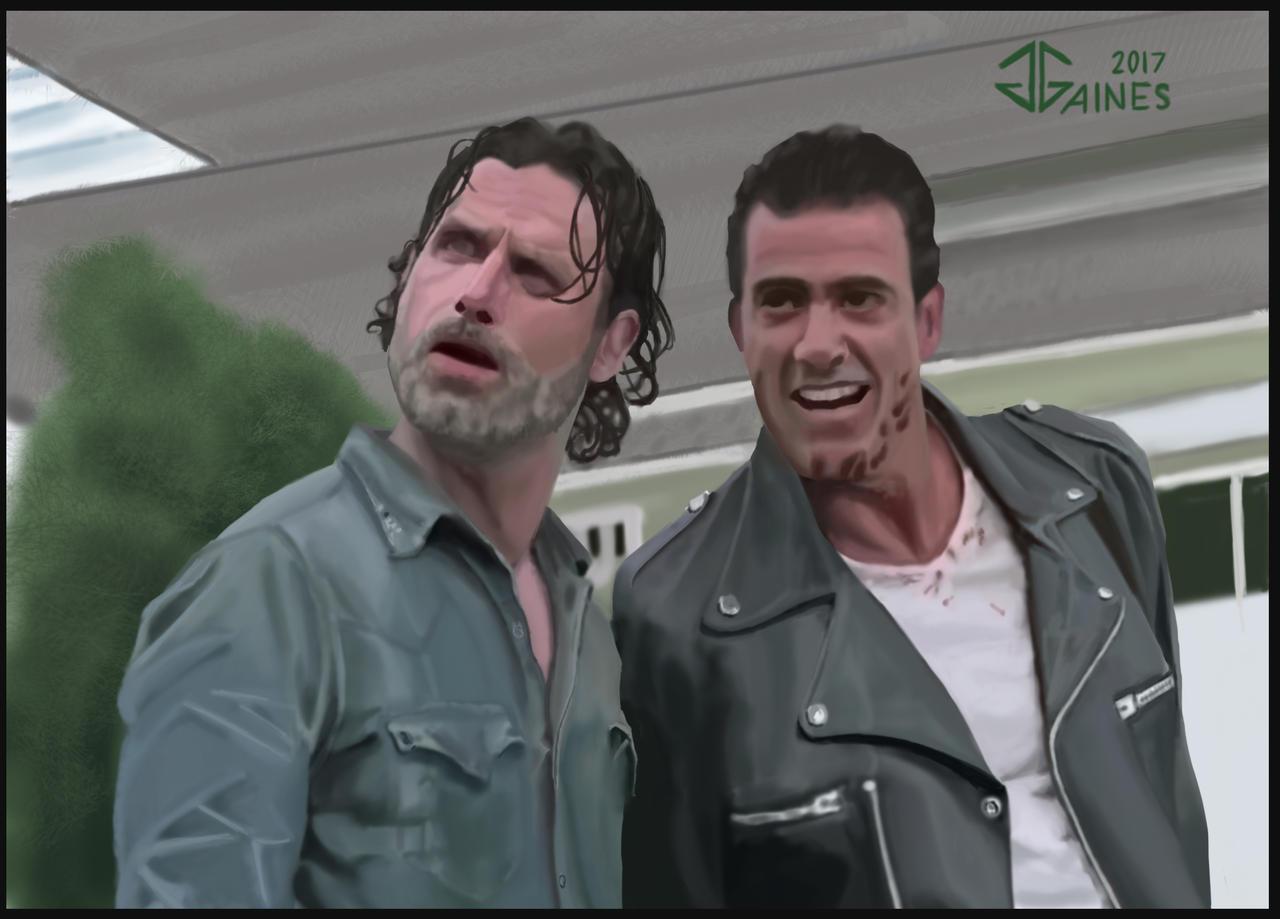 The Walking Dead - Negan and Rick