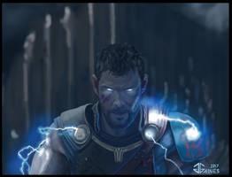 Thor Ragnarok - Bringing the Lightning by gkgaines