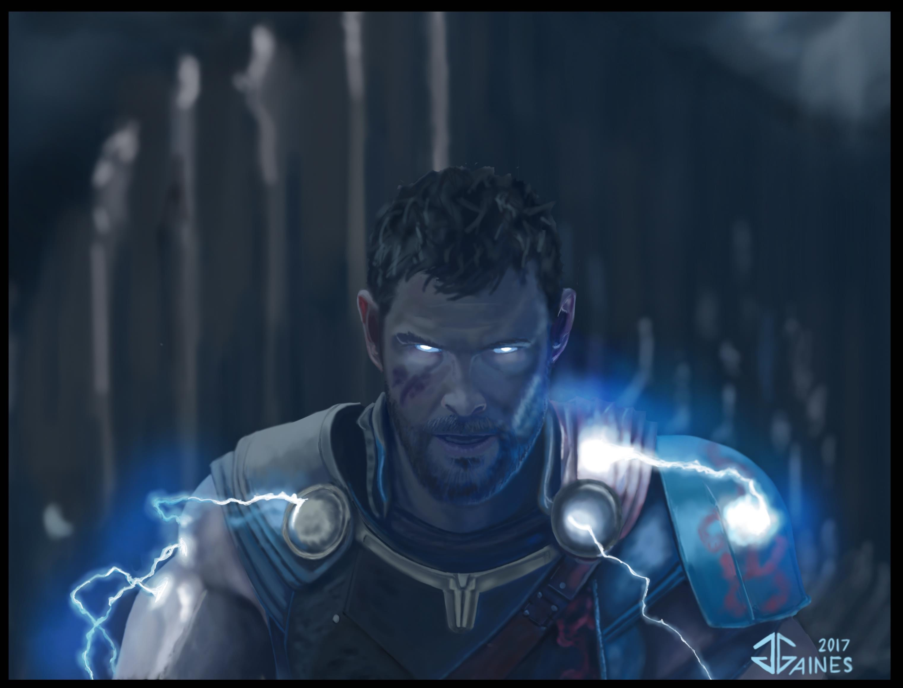 thor ragnarok bringing the lightning by gkgaines on deviantart
