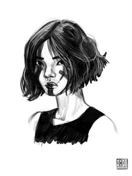 Portrait sketch and thank you for 100 watches!