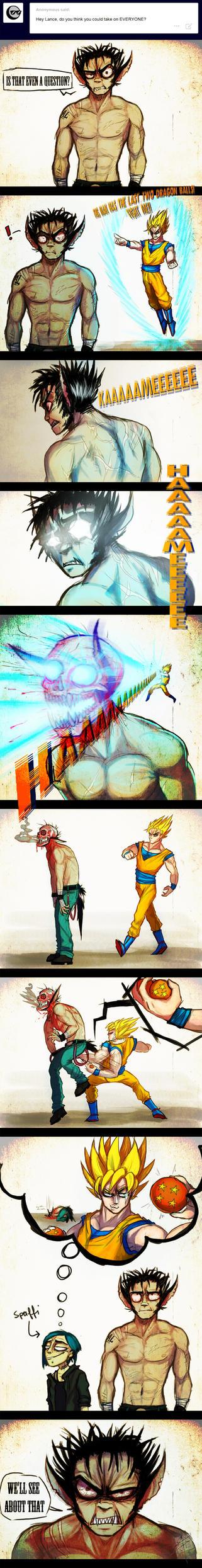 Lance vs Goku by Spaffi