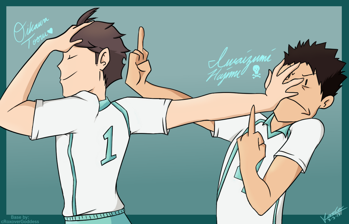 Oikawa and Iwaizumi by Moonlight1328