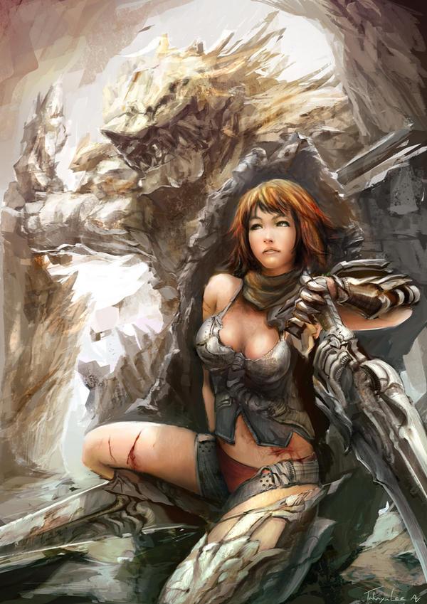 1 Knight 1 Monster by takaya