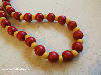 Red and Yellow Tribal choker