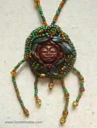 Green Leaf Goddess Necklace
