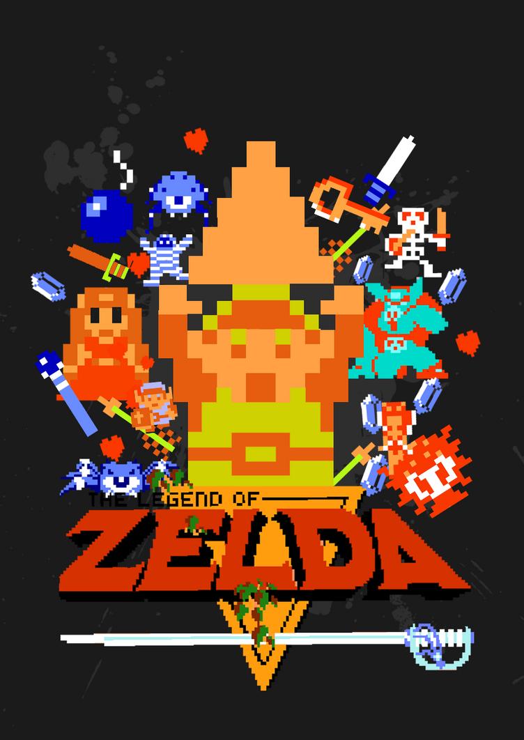 The Legend of Zelda 8-Bit by gamingaddictmike125