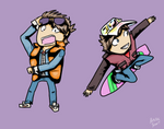 Marty McFly First and Second Movie Chibis
