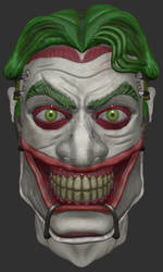 New 52 joker head 3d