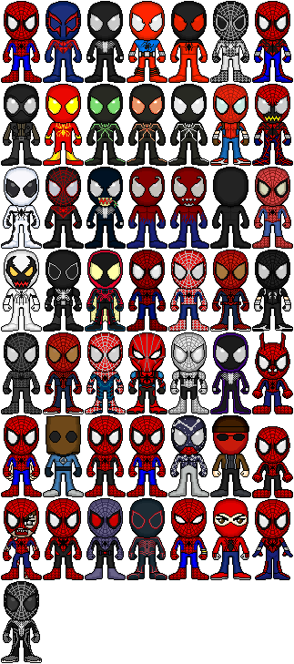 Spider-Man 50th Anniversary, 50 Spidey by spid3y916