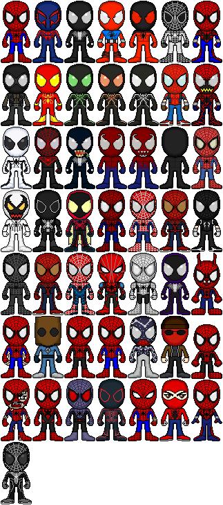 Spider-Man 50th Anniversary, 50 Spidey by spid3y916