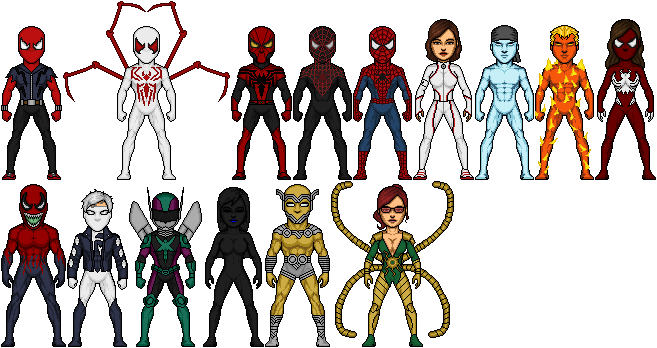 Ultimate Scarlet Spider Characters by spid3y916