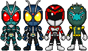 Shin Riders and Shin Sentai by spid3y916