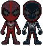 Crimson Spider and Cyber Spider by FriendAlias