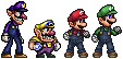 The Super (W/M)ario Bros. by spid3y916