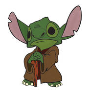 Stitch as Yoda by liamjay