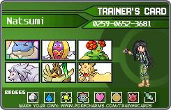 Natsumi's Pokemon Team by Vini310