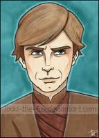 Luke Skywalker - Sketchcard by Todd-the-fox