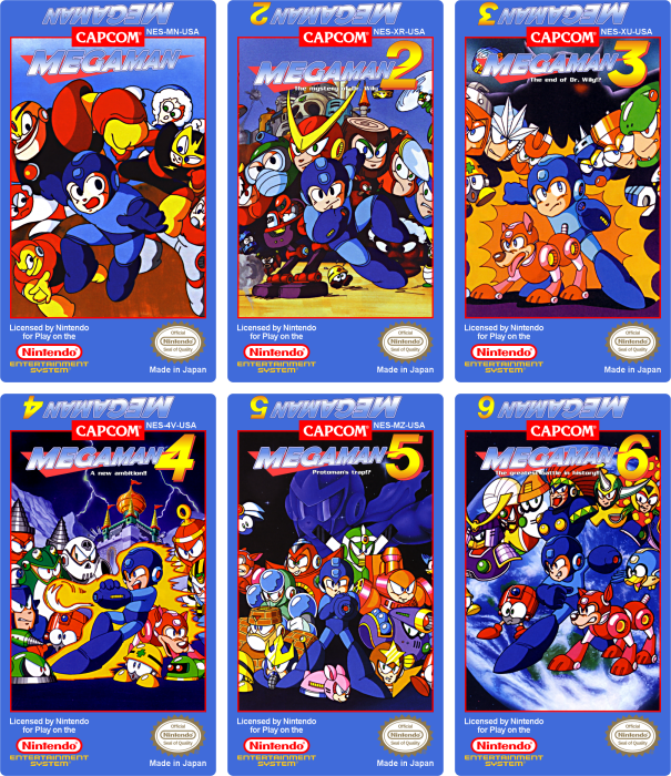 Mega Man NES Custom Labels by vladictivo