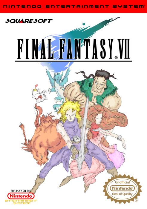 Final Fantasy VII NES Front Cover by vladictivo