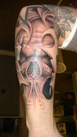 skull with craziness stuff by Articidal