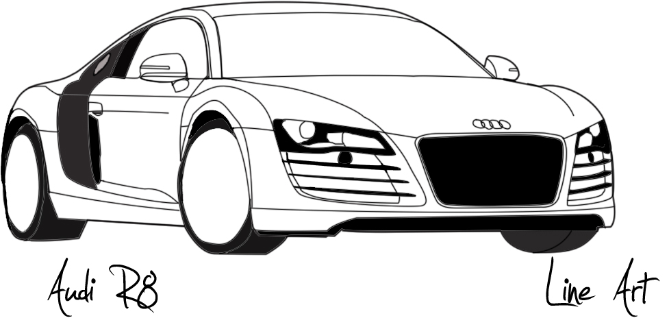 Line Art Audi R By Xetox On DeviantArt - Audi car vector