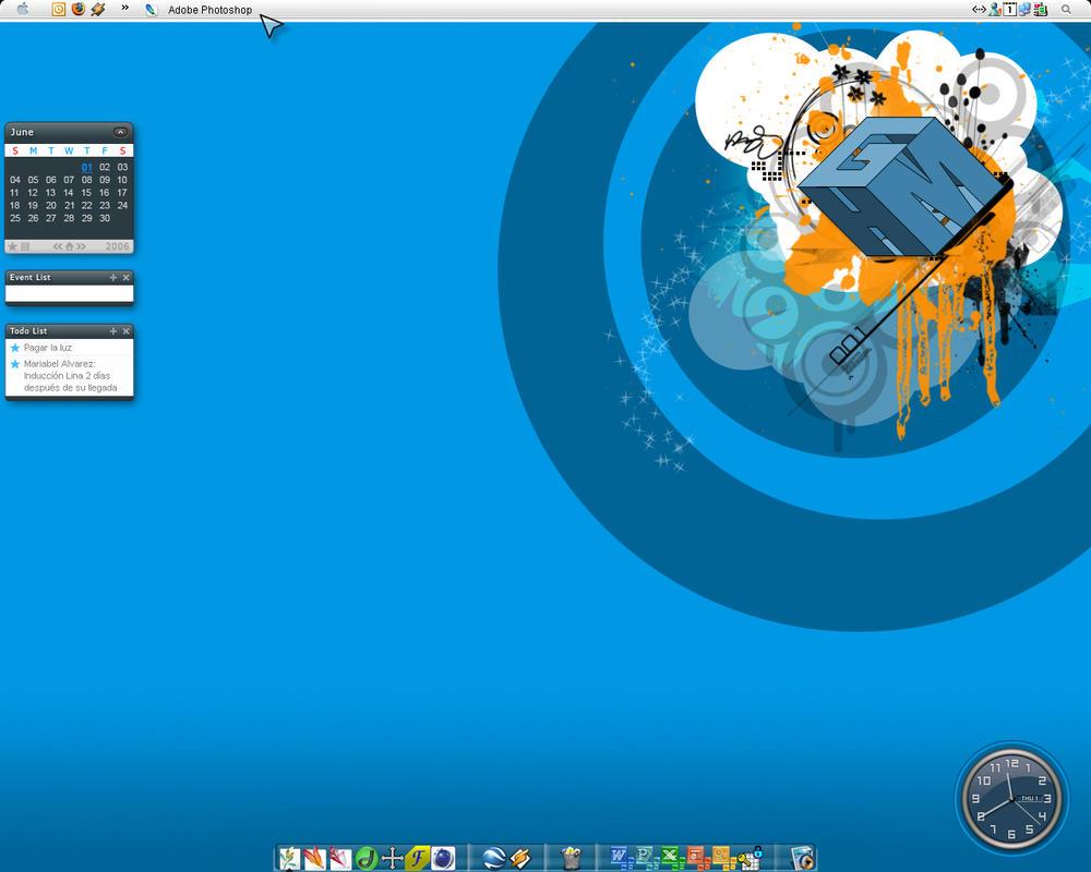 desktop at work by mr-meth