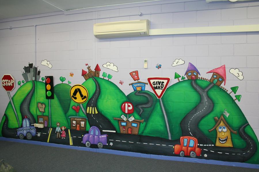 traffic mural by Yocheved