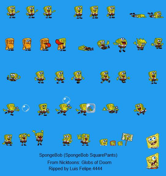 Nicktoons Globs Of Doom Spongebob Moves By Luisfelipe4444 On