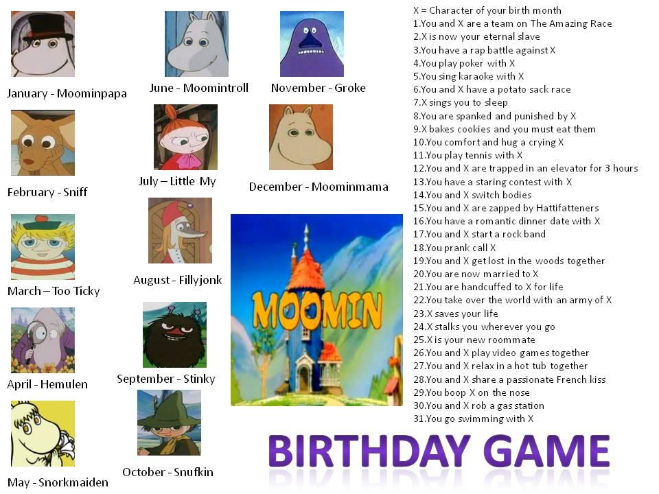 One Piece Birthday Scenario Game Moomins Birthday Scenario Game