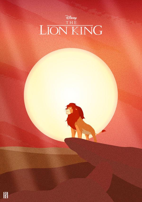 The Lion King Illustration Poster By Str Dusts On Deviantart