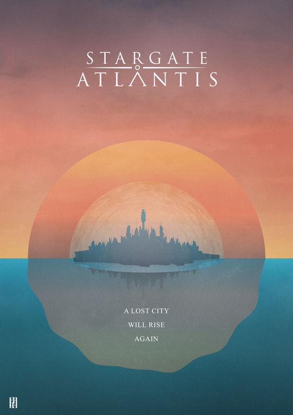 Stargate Atlantis - Illustration Poster