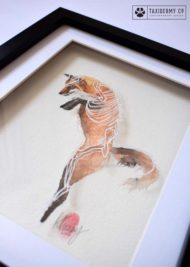 'Anatomy Of A Fox' Skeletonised Original Artwork by KrysTheCreator