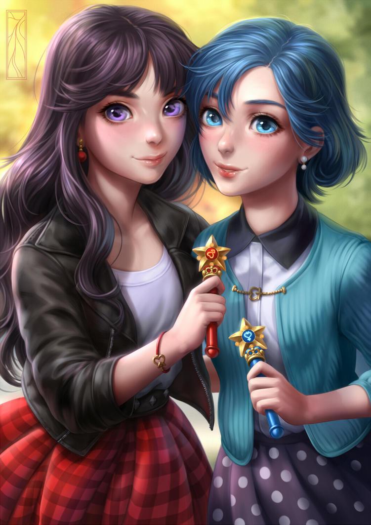 Ami and Rei by Kotikomori