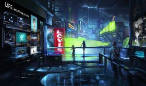 Future scenes  - shopping mall