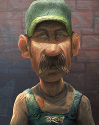 The Art of Anas Riasat sketch update 64 - Luigi by anasrist