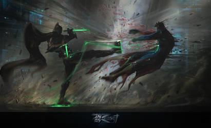 Batman VS The Alien by anasrist